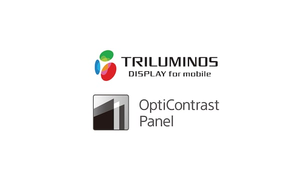 Logotipo de TRILUMINOS Display y del panel OptiContrast